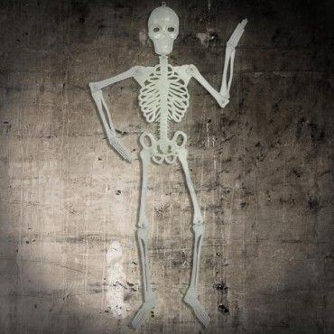 Glow In The Dark Hanging Skeleton Decoration 4ft
