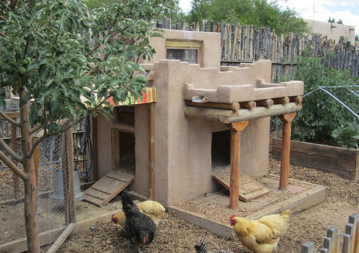 Adobe rabbit & quail coop!!!! I REALLY LIKE THIS IDEA because it would keep…