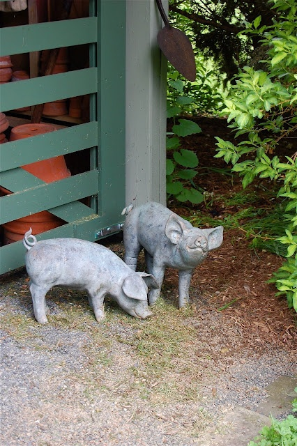 Cement Pigs For The Garden