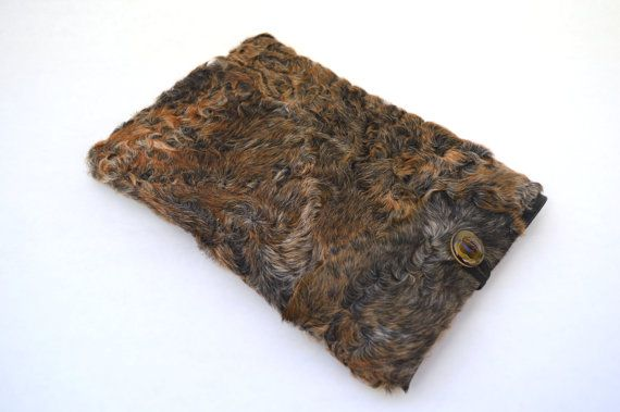 Real fur tablet case Samsung tablet 10case real fur by BeFur
