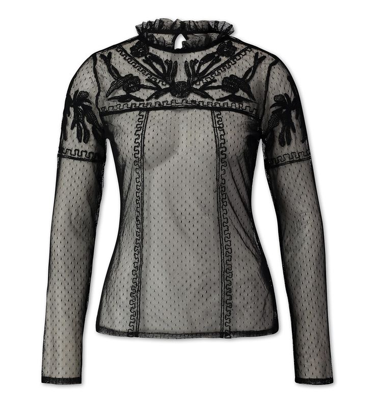 Functionimage view Blusa transparente in negro