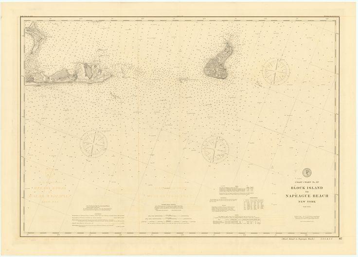 Block Island to Napeague Beach Historical Map - 1897