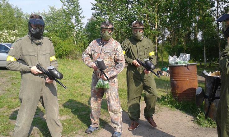 Panowie w pełnym uzbrojeniu #paintball #fun #plener