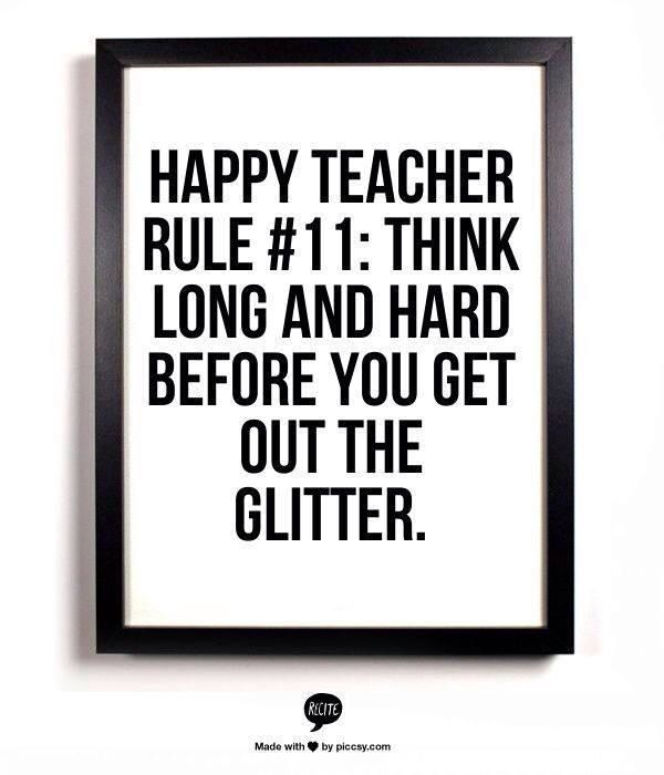 What is your happy teacher rule?