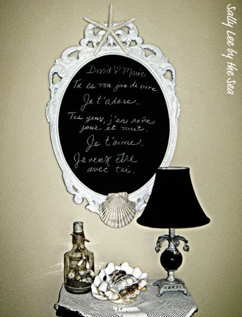 The enchanted cove on imgfaveChalkboards Ideas For Bedrooms, Cottage Chic, Beach Cottages, Cottages Bedrooms, Diy Crafts, Chalk Boards, Diy Mirrors, Coastal Crafts, Chalkboards Mirrors