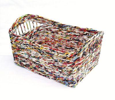 koszyk prostokątny, koszyk z gazet,