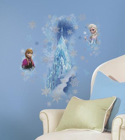 Vintage Disney Die Eisk nigin u V llig unverfroren Eisburg mit Elsa und Anna Wandtattoo