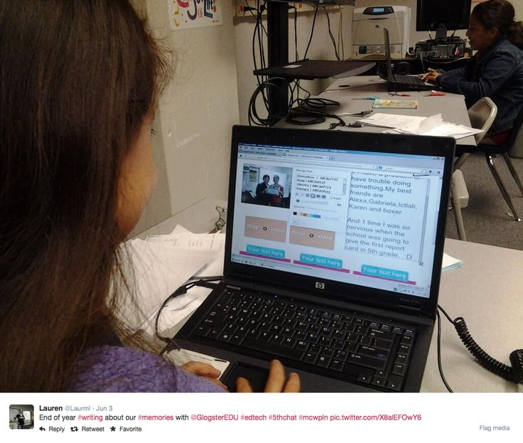 Lauren's class writing about their memories with #GlogsterEDU. #education #classroom