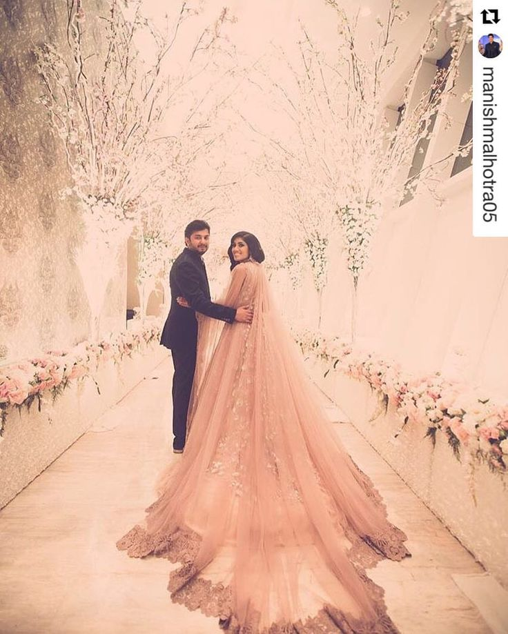 Damn! The train on this one! Love this @ManishMalhotra bride's ensemble! <3 this pre wedding shoot idea! The ultimate guide for the Indian Bride to plan her dream wedding. Witty Vows shares things no one tells brides, covers real weddings, ideas, inspirations, design trends and the right vendors, candid photographers etc. #IndianWedding #ideas #Fashion| Curated by Witty Vows - The ultimate guide for the Indian Bride | www.wittyvows.com