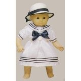 "Sailor Dress and Hat. Fits 15"" Dolls like Bitty Baby® and Bitty Twin®By Beatrice Collection"