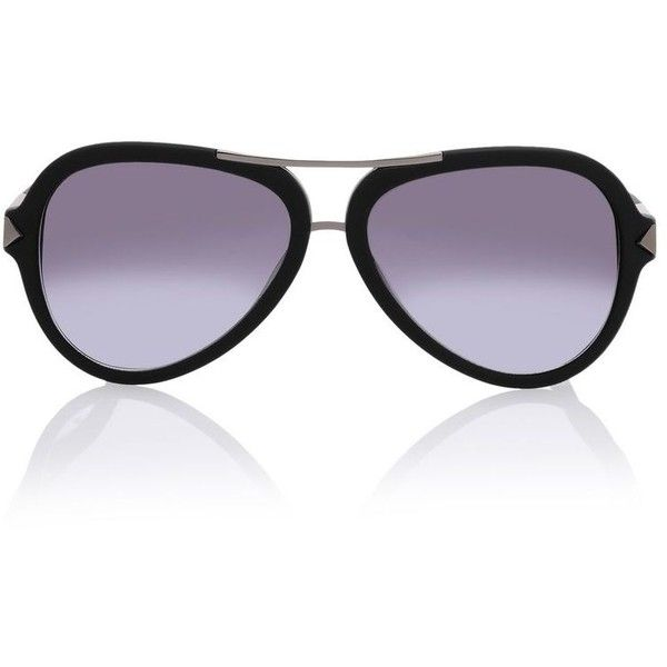 Karl Lagerfeld Aviator (3 600 UAH) ❤ liked on Polyvore featuring accessories, eyewear, sunglasses, black, aviator style sunglasses, metallic glasses, karl lagerfeld eyewear, karl lagerfeld sunglasses and metallic sunglasses