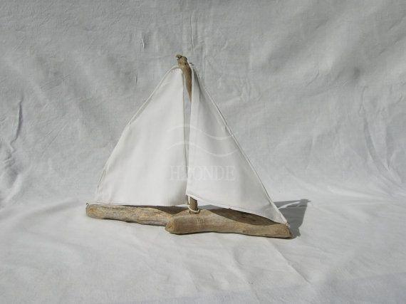 Barca a vela, legno di mare, decorazione, centrotavola matrimonio,torta,stile marino,nautico,casa al mare,giocattolo,soprammobile, [Cod. 14]