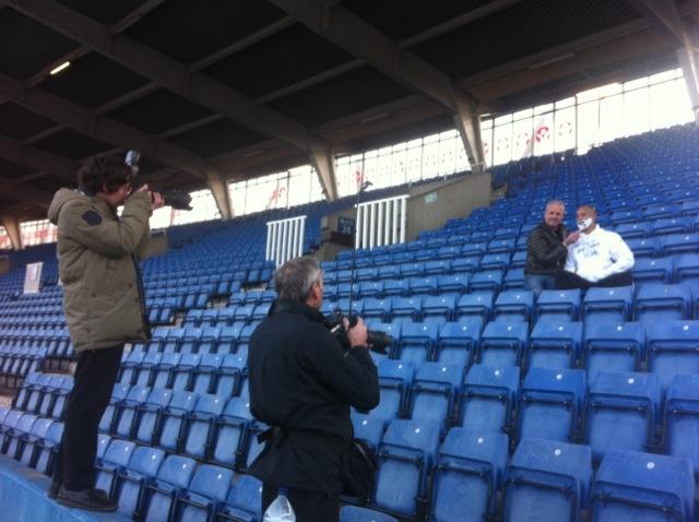 January 23, 2012 - Our pal James Ellington attracts media attention at TC photo stunt