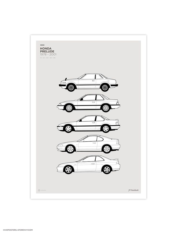 Honda Prelude Generations Poster from Hive Posters