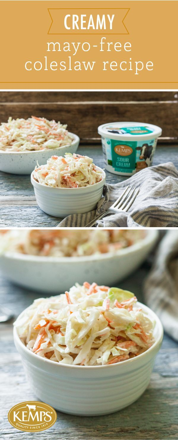 It S No Surprise That Coleslaw Is A Must Have For Every Backyard Barbecue Potluck And Summer Party Healthy Sour Cream Coleslaw Recipe Easy Sour Cream Recipes