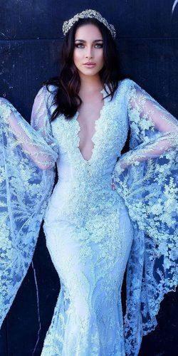 21 entzückende blaue Brautkleider für romantische Feier