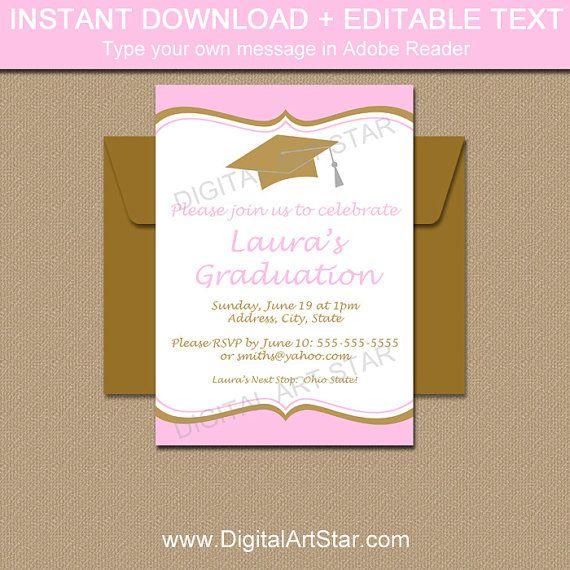 The 25 best Graduation invitation templates ideas on Pinterest