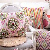 Set of 4 Folk Art Cotton/Linen Decorative Pil... – AUD $ 59.02