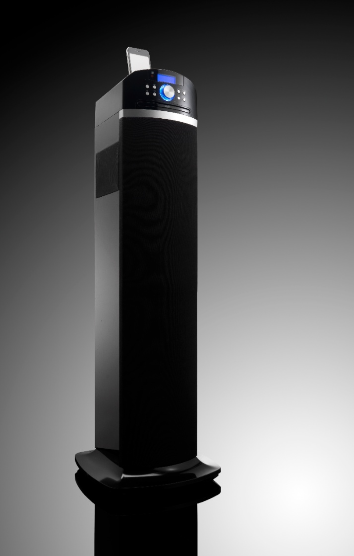 3D sound tower - the IPT-223 tower by Lenco powered by Sonic Emotion Absolute 3D http://www.sonicemotion.com