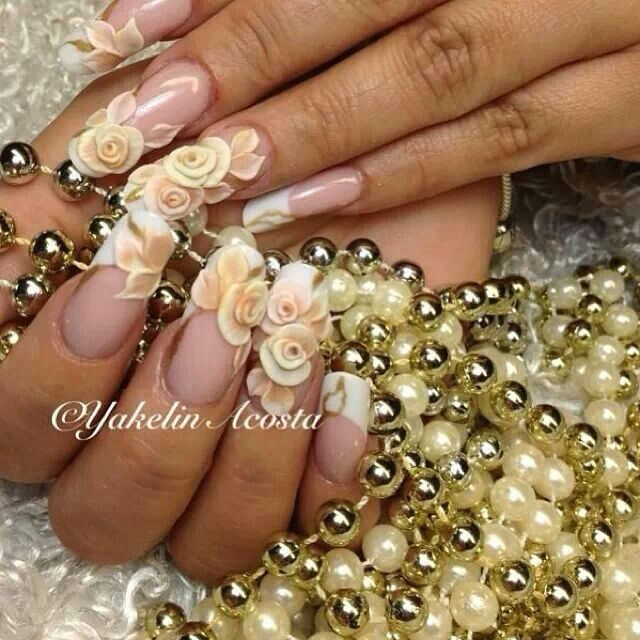Bride nails  Nails, unhas de acrílico, acrylic nails, gel nails, nail art