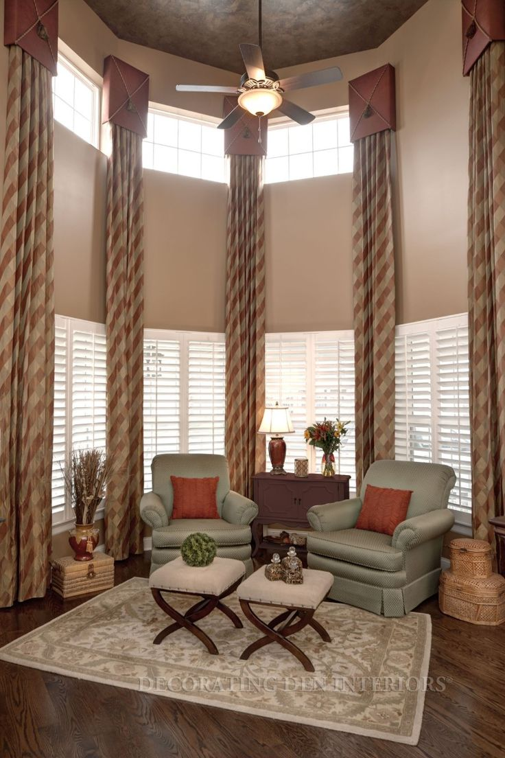 custom window treatments designer curtains shades and blinds - Living Room Window Coverings