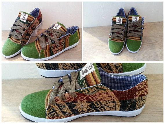 PANCHO'S FOOTWEAR  Men's Green Low Top Sneakers by PanchosFootwear. Use PANCHOS20 code on Etsy for 20% off