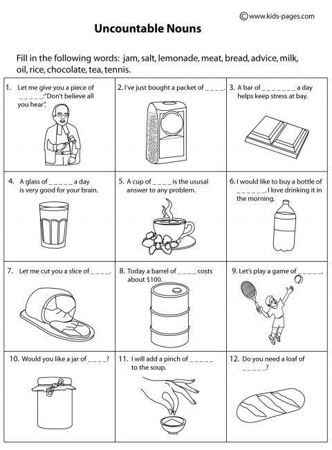 noun worksheet kindergarten  kidz   nouns  pinterest  noun worksheet kindergarten  kidz