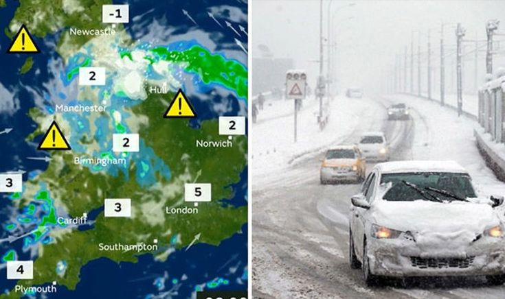 UK weather forecast: Snow, sleet and showers causing travel disruption today | Weather | News