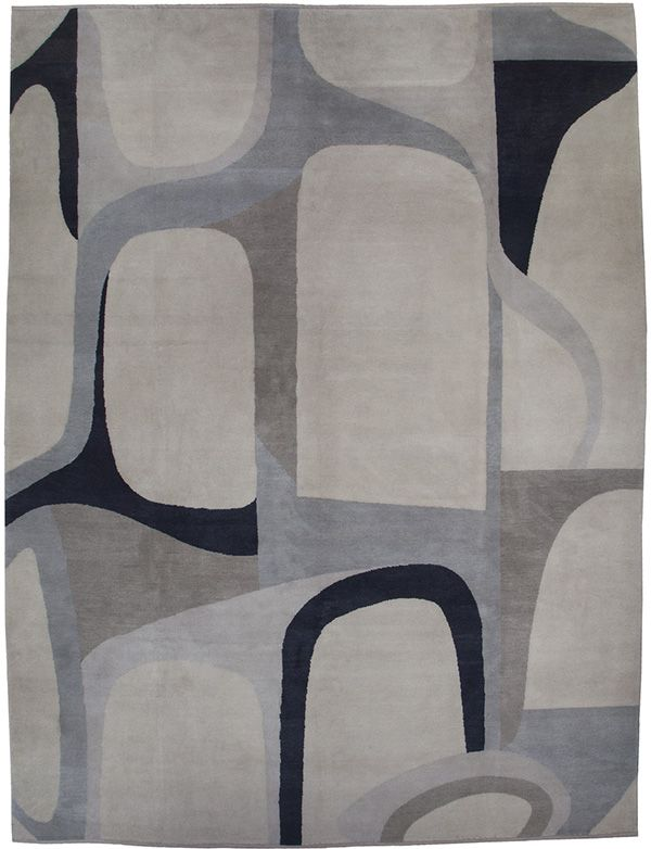 Christopher Farr Close Charcoal Rug La Design Concepts Gray Abstract Tonal Color Block Blue Black Mist Geometric Expr Rugs Carpets Area Rugs Hotel Carpet
