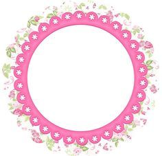 Flowers: Free Printable Frames, Toppers or Labels.