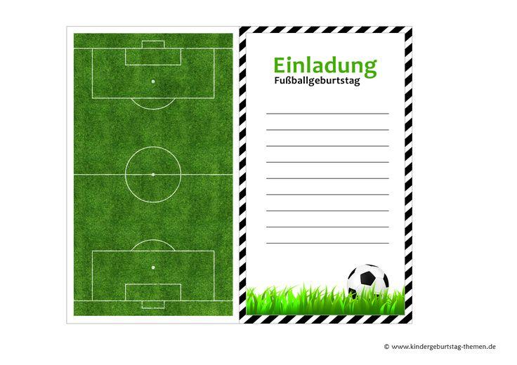Fußball Geburtstagseinladungen kostenlos downloaden – Lieschen Müller