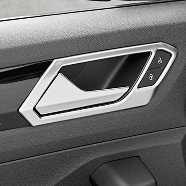 ABS Black Car Door Handle Bowl Side Handle Bowl Cover for Hyundai KONA 2018 2019