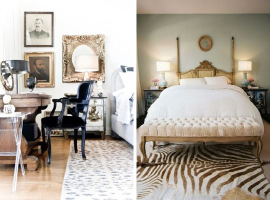 RAWR: 35 Exmaples of Animal Print Rooms    This photo: Animal Print Bedroom Rugs.