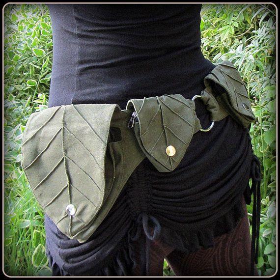 Cinturón de utilidad de bolsillo hoja ~ Festival correa bosque fantasía hadas…