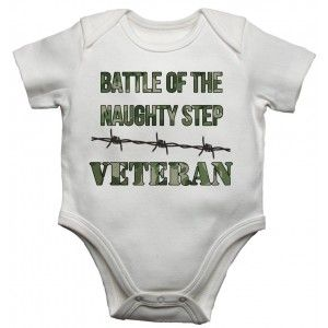 Battle of the Naughty Step Veteran - Boys Baby Vests Bodysuits Baby Grows