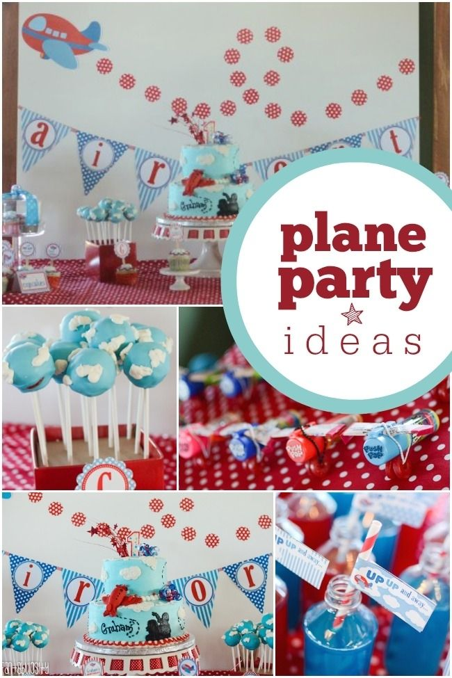 Boy's Airplane Themed First Birthday Party Ideas