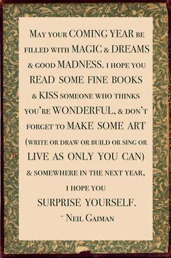 Newyears, Inspiration, Neilgaiman, Quotes, New Start, Life Rules, New Years, Painting Canvas, Neil Gaiman