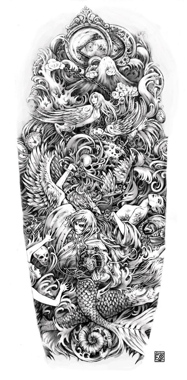 20 best tattoos images on pinterest skulls skull sleeve