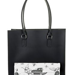 Brix + Bailey Black leather Large Tote Bag - Luxury Leather Handbags and Accessories designed by sister in London, Brother in New York, www.brixbailey.com. Licensing www.thisisiris.uk, Collab with Naomi Isted www.ultimatelifestylist.com