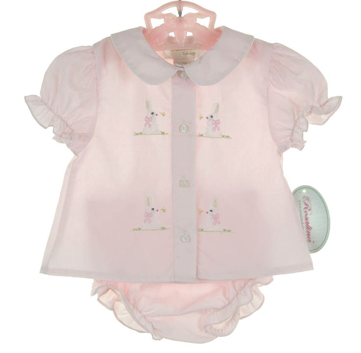 NEW Rosalina Pink Diaper Set with Bunny Embroidery $40.00