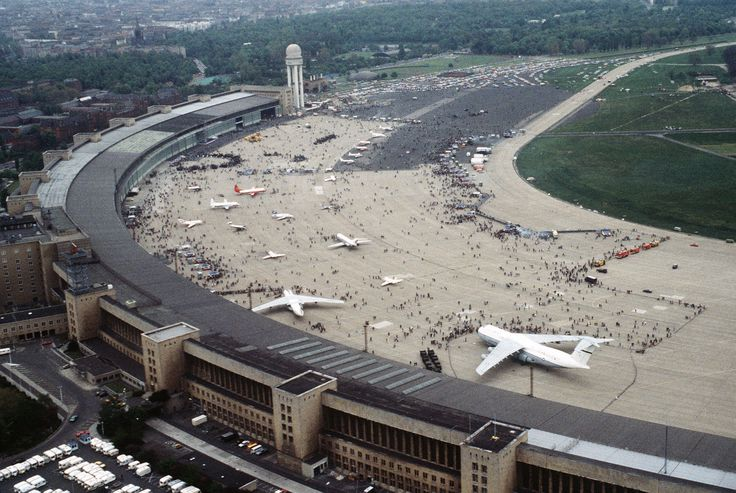 Berlin Tempelhof Airport ~ Ernst Sagebiel (1941) ~ Seen here during a US Air Force Open Day in 1984.
