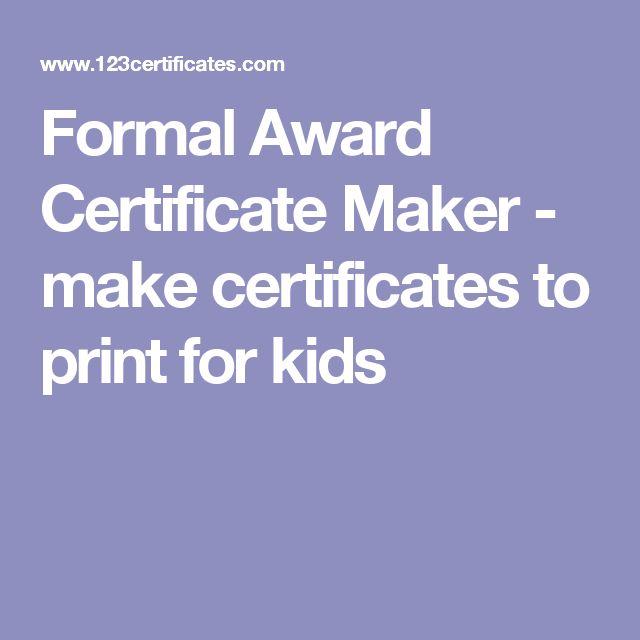 The 25+ best Certificate maker ideas on Pinterest Free - certificate maker online free
