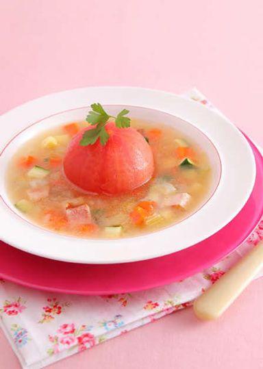 丸ごとトマトのスープ のレシピ・作り方 │ABCクッキングスタジオのレシピ | 料理教室・スクールならABCクッキングスタジオ
