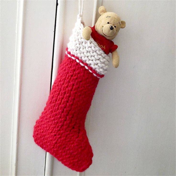 christmas stocking knit your own kit by edamay | notonthehighstreet.com