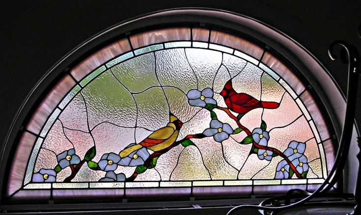 Stained Glass Transom Patterns Show As Slideshow