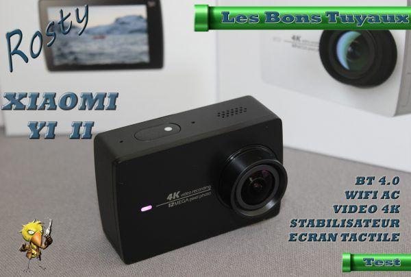 [TEST] Présentation de la Caméra dAction XIAOMI YI II 4K  Bonjour  Aujourdhui je vais vous faire une petite présentation de la dernière caméra daction de chez XIAOMI il sagit de la YI II quifilme en 4K à 155 est équipée dun stabilisateur dimage bleuffant dispose dune batterie de 1400mAh dun écran de 2.19dun double micro du bluetooth etdu Wifi AC.  Elle se présente comme une concurrente des caméras Go Pro mais se place comme tous les produits XIAOMI dans une tranche tarifaire bien plus…