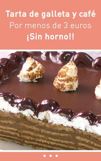 #tarta #economico #barato #galletas #café #sinhorno