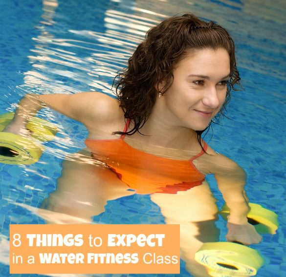 Thinking about trying a water aerobics or other water fitness class? Here's what to expect! (Hint: It's not for grannies!)