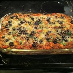 Mexican Lasagna with Black Beans & Corn.. just had this for dinner and it was amazing! used floor tortilla's instead.