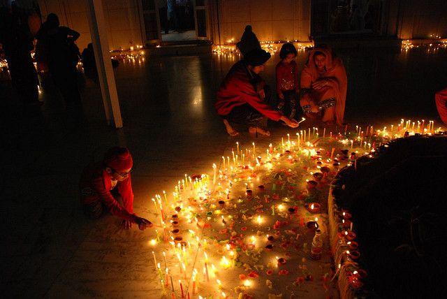 Diwali candles, India
